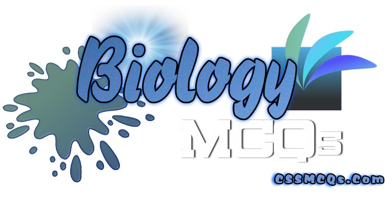 Biology MCQs by CSS MCQs banner with some live elements